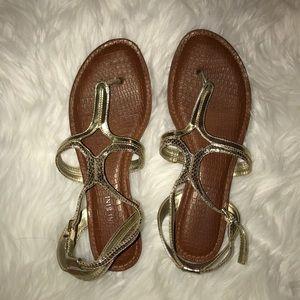 Antonio Melani Gold Sandals